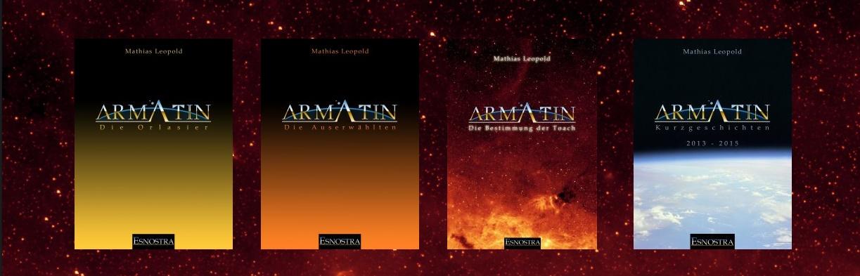 Die ersten Bücher des Armatin Science-Fiction Universum